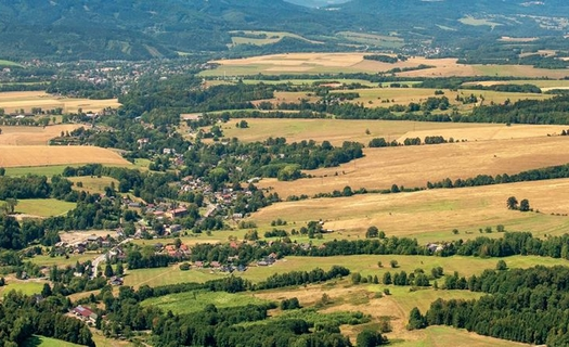 Nová Ves u Chrástavy, Liberecký kraj, krásná příroda Jizerských hor