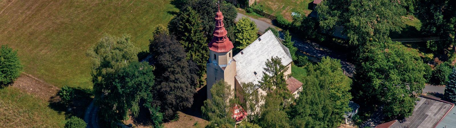 Nová Ves u Chrástavy, CHKO Jizerské hory, zajímavé historické památky, kostel