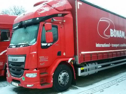 BONAM, s.r.o., kamionová doprava v rámci EU a ČR
