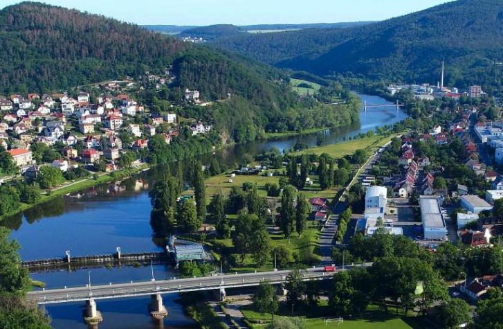 Město Beroun – pamětihodnosti, příroda s lesy a vodními toky