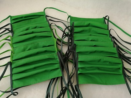 Výroba a prodej bavlněných šitých roušek, možnost přichystání velkoobjemových objednávek nad 1000 ks