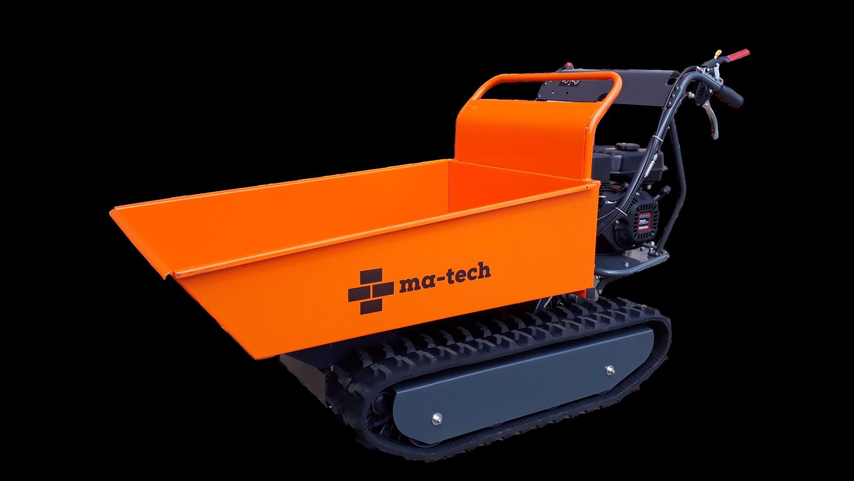 Motorové pásové kolečko - pomocník pro přepravu materiálu v obtížných terénech