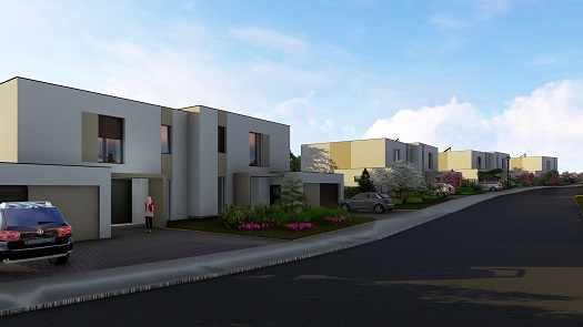 Výstavba a prodej nadstandardních domů s velkými pozemky - projekt Slunečná alej