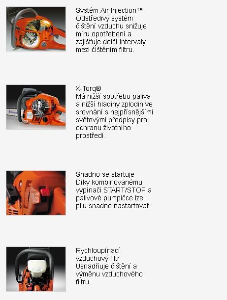 Motorové píly Husqvarna, typ - benzínové motorové píly, predaj aj zaškolenie