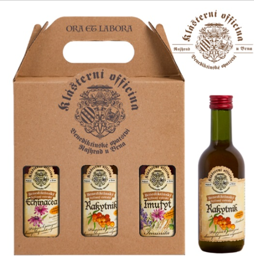 Benediktinské bylinné extrakty - výroba bez konzervantů, dárkové balení