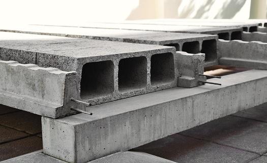 Stropní konstrukce z předpjatého betonu NORDSTROP - vložkový systém NORD