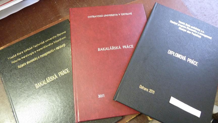 Knihařské práce, vazba knih, diplomových prací, ražba Ostrava