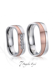 Pánské, dámské ocelové snubní prsteny