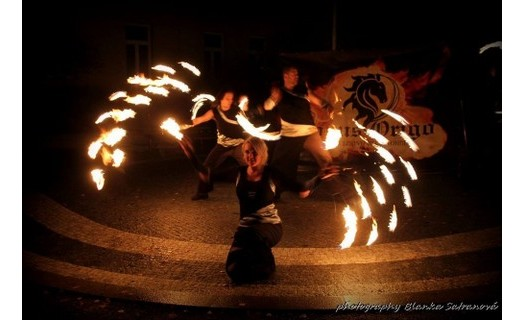 Akce fire-show Jihlava