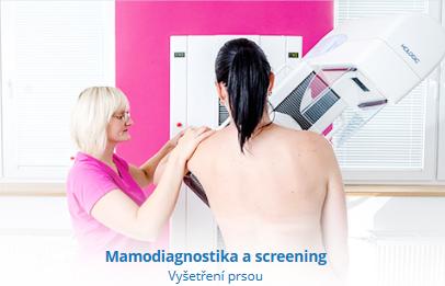 Radiodiagnostické pracoviště, mamografický screening, rentgen, ultrazvuk