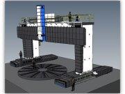Dodávka, montáž svislé soustruhy dvoustojanové s pevným rámem, s pojízdným protálem