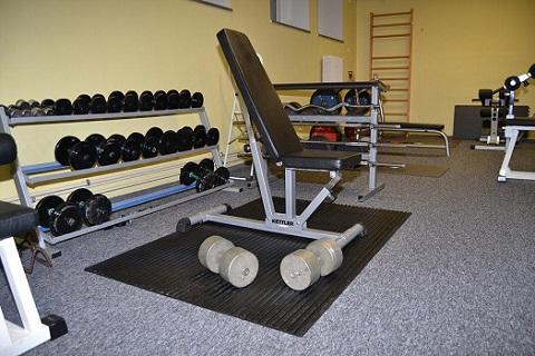 Gumová rohož na podlahy do fitness centra, tělocvičny