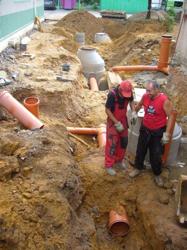 Výstavba vodovodů a kanalizací