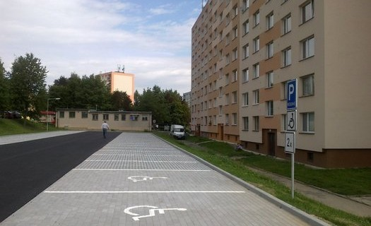 Dopravní stavby,  parkoviště Příbram