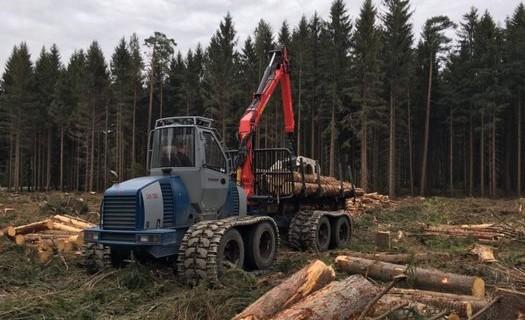 Nová verze lesní vyvážecí soupravy pro probírkovou těžbu Olomouc