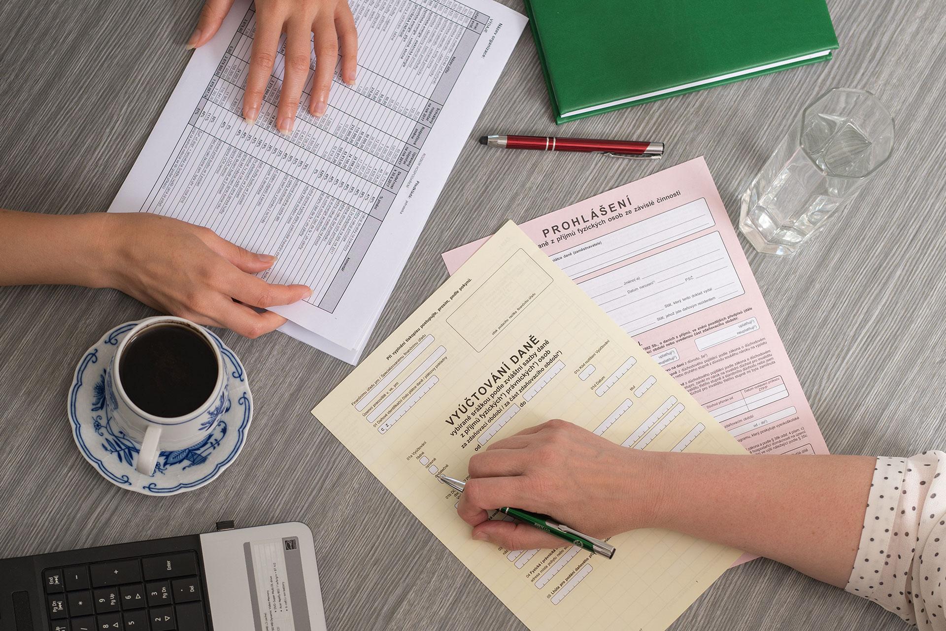 Daně, daňová přiznání, poradenství Louny