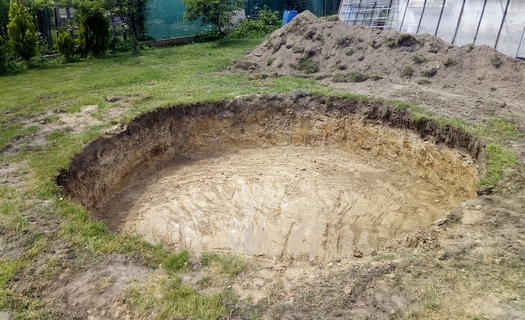 Zemní práce, výkopy bazénů