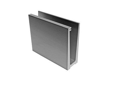 U, L hliníkové kotvící profily pro sklo