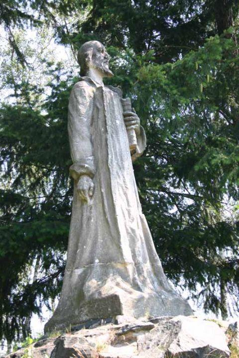 Město Třemošná v Plzeňském kraji, socha mistra Jana Husa