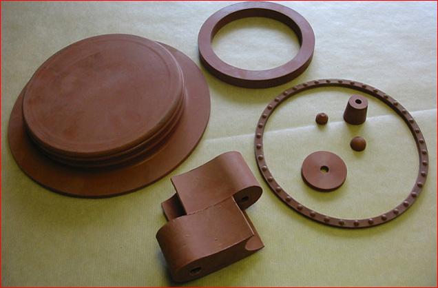 Výroba dílů a komponentů z technopryže