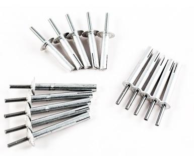 Výroba, prodej hliníkových rozpěrných nýtů, trnů a podložek URP pro kotvení izolačních hydrofolií, plechů