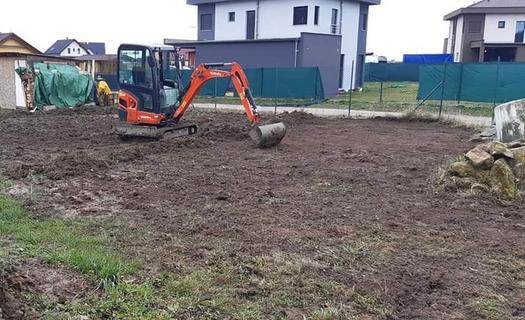 Přípravné stavební práce, výkopové práce, demolice, dovoz a odvoz materiálu