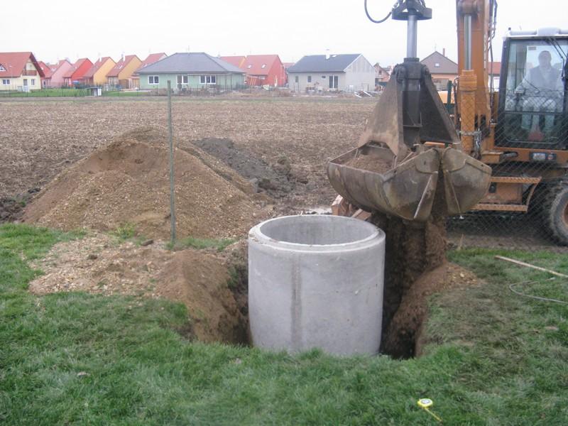 Zhotovení betonových studní, Olomoucký a Jihomoravský kraj