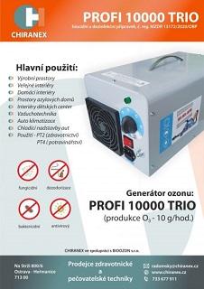 Účinná dezinfekce všech prostor, místností i matrací pomocí ozonového generátoru a vaku