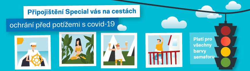 Cestovní připojištění při potížích s COVID-19 Liberec, pojištění Special od AXA ASSISTANCE