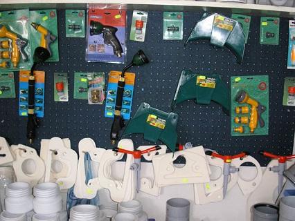 Zahradní program - prodej hadic, držáků hadic, postřikovačů, objímek, rychlospojek a další