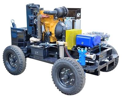 Zakázková výroba vysokotlakového zařízení pro čištění tepelných výměníků a potrubí chemického závodu