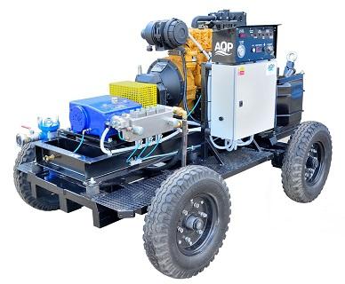 Pojízdné vysokotlaké zařízení pro čištění potrubí v chemickém průmyslu