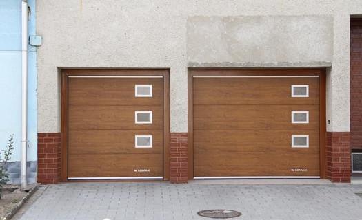 Sekční, posuvná, rolovací garážová vrata LOMAX