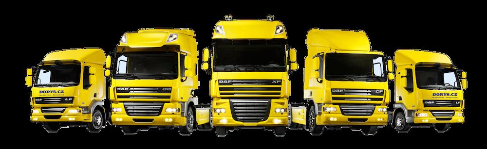 DORYS CZ, s.r.o., kamionová doprava v rámci Evropy
