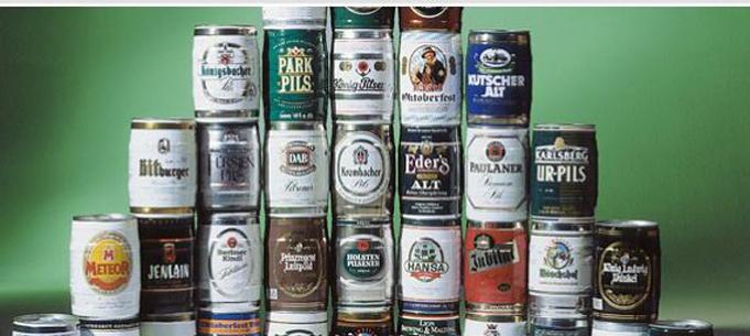 Soudky a plechovky na pivo, soudky s potiskem