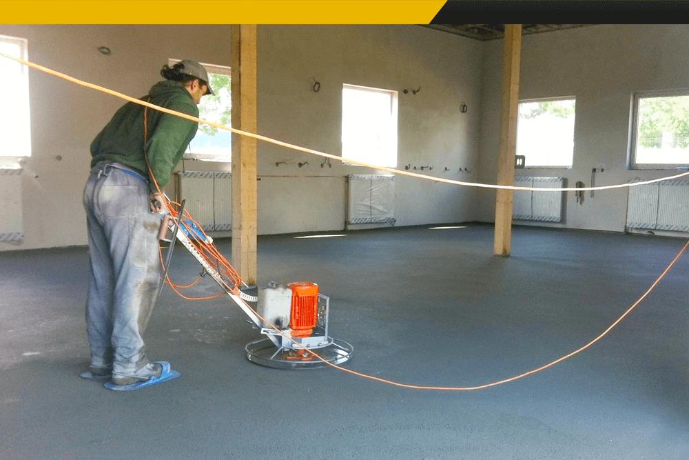 Hlazení podlah, betonové podlahy bez starosti