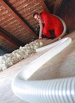 Foukaná minerální izolace, zateplení stropů