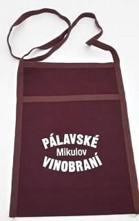 Textilní taštička na krk - nosička skleničky na víno Břeclav, hodonín