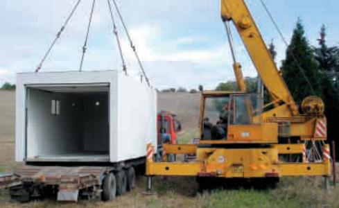 Doprava, montáž betonových garáží
