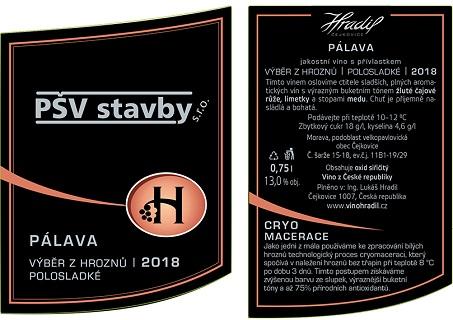 Víno s firemní etiketou a logem firmy - Vaše etiketa