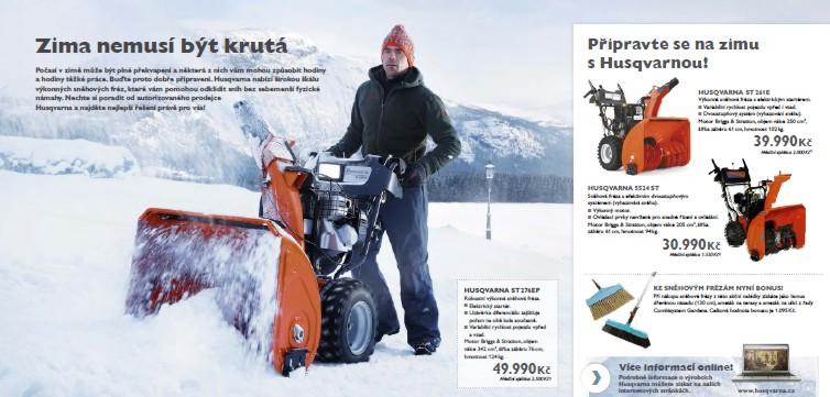 Akce - sněhové frézy Husqvarna Šumperk