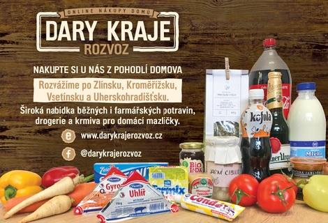 Rozvoz potravin na Zlínsku - i biopotraviny, farmářské produkty