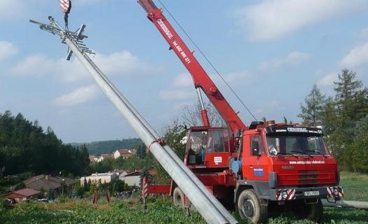 Výstavba elektrického vedení NN a VN, veřejného osvětlení