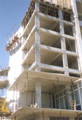 Stavba monolitické železobetonové konstrukce, stropy – různé typy a užití