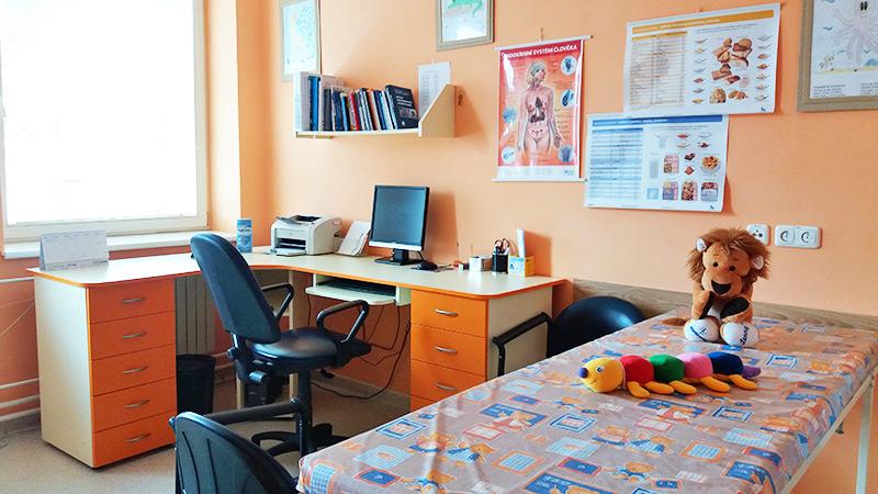 Poliklinika, jednotlivé ambulance, dětské ordinace