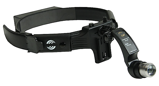 Prodej čelní vyšetřovací operační LED svítilny s fokusací a lupou – vysoce výkonná