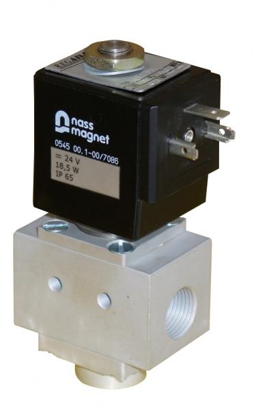 Trojcestný přímo řízení elektromagnetický ventil