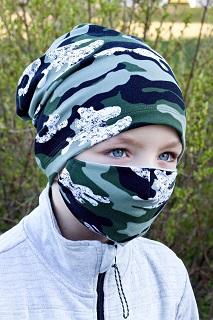 Súprava detské bavlnené rúška s čiapkou - predaj, e-shop