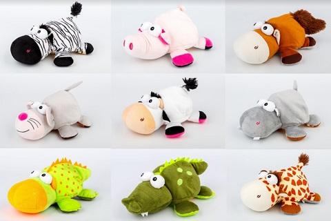 Eshop plyšové hračky - v dárkovém balení, plyšák na knoflíky, jako polštářek