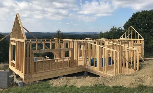 Stavby otevřených dřevostaveb ze systému STEICO Rožnov pod Radhoštěm, stavby z přírodních materiálů